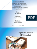 impresora portatil hp spocket