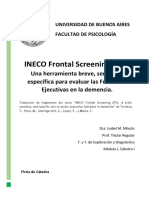 Ficha INECO Frontal Screening