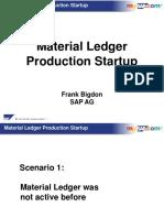 Material Ledger Startup