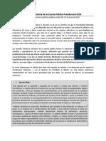 Análisis Feminista Cuenta Presidencial 2018