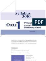 Syllabus Cycle 1
