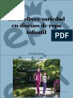 Alexandra Azpúrua - EPK Ofrece Variedad en Diseños de Ropa Infantil