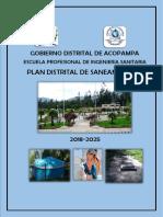Avance Del Plan de Saneamiento Distrital de Acopampa