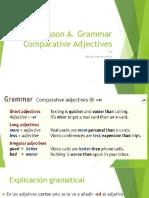 Lesson a Thursday Grammar. Comparative Adjectives