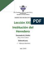 Institución Del Heredero