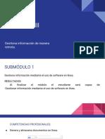 Módulo III Gestiona información de manera remota.