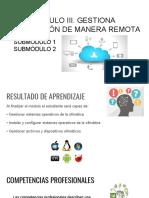 Módulo III. Gestiona Información de Manera Remota