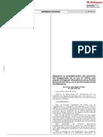 LP Lea El Proyecto Del Reglamento de La Ley Que Regula El Régimen Disciplinario de La PNP