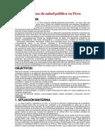 Situacion de Salud Pública en Peru