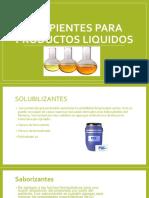 Excipientes Para Productos Liquidos