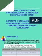 Constitución de las JASS - Estatuto y reglamento