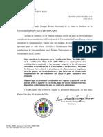 Certificacion 144 2009-10 Deja Sin Efecto Obvencion Presidente Upr, Rectores y Personal Upr