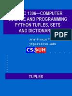 Tuples, Sets and Dictionaries