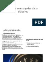 Alteraciones Agudas de La Diabetes
