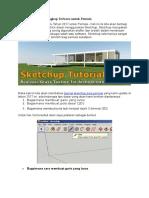Tutorial Sketchup Lengkap Terbaru Untuk Pemula