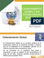 Calentamiento Global y Sus Consecuencias en El Agua