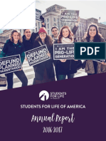 2016 - 2017 Students for Life Annual Report
