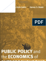37550657 Public Policy and the Economics of Entrepreneurship