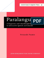 PARALANGUAGE A LINGUISTIC AND INTERDISCIPLINARY APPROACH TO INTERACTIVE SPEECH AND SOUND