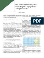 Especificaciones Técnicas Generales Para La Realización de Cartografía Topográfica a Cualquier Escala.