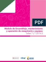 Guia de Orientacion Modulo Ensamblaje Mantenimiento y Operacion de Maquinaria y Equipo Saber Tyt 2016 2
