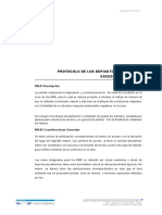 Protocolo de Los Depositos de Material Excedente