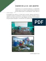 La Contaminacion en el colegio san agustin
