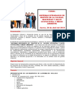 Sistema Integrado de gestion Calidad