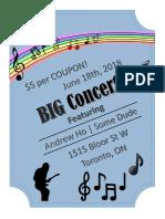 my beautiful concert poster
