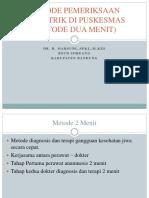 Metode Pemeriksaan Psikiatrik Di Puskesmas