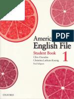 American English File 1 - Studentbook