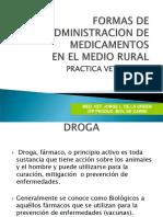 Formas Administracion de Medicamentos en El Medio Rural