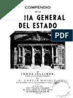 Indice Teoria Del Estado de Jellinek