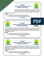 citacion Asamblea COOPAINCA