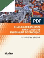 Livro pesquisa operacional para cursos de engenharia de produção
