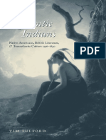 Romantic Indians - Native Americans, British Literature, And Transatlantic Culture 1756-1830