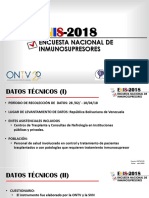 Encuesta Nacional de Inmunosupresores 2018. Organización Nacional de Transplante de Venezuela. Sociedad Venezolana de Nefrología.