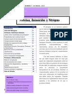 Cabaña, R.; Fernández, M. y Urbanek, L. C. Proteínas, Aminoácidos y Nitrógeno