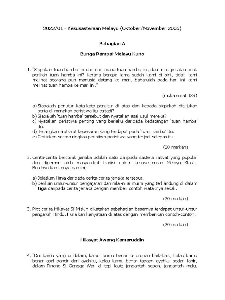 2023 1 Kesusasteraan Melayu Oktober November 2005