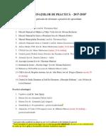 Lista Destinatiilor de Practica 2017-2018 Si Cererea de Inscriere La Practica 3