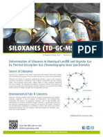 Determination of Siloxanes in Municipal Landfill and Digester Gas by Thermal Desorption Gas Chromatography Mass Spectrometry