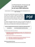 Manual Para La Presentación Al Concurso de Aportes No Reembolsables