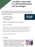 Codelco Educa:Procesos Productivos Escolares:Lixiviación:Información Básica