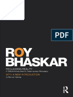Roy Bhaskar - Reclaming Reality