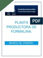 Planta Productora de FORMALINA