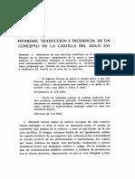 CLAVERO, Bartolomé. Interesse Traduccion e Incidencia de Un Concepto en La Castilla Del Siglo XVI