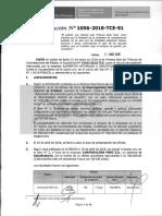 RESOLUCION N°1056-2018-TCE (RECURSO APELACION)