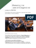 César Villanueva y Su Mensaje Ante El Congreso en Cinco Claves