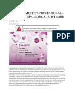 [v17.0] Chemoffice Professional