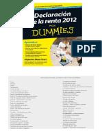 Declaración de la renta para dummies 2012 pdf